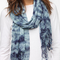 Overdyed Open-Weave Scarf