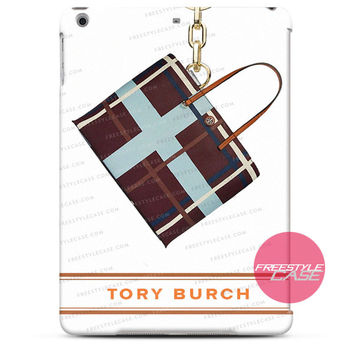 Tory Burch Plaid Berry Kerrington Square Tote  iPad Case 2, 3, 4, Air, Mini Cover