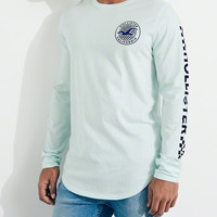 Guys Checkerboard Logo Graphic Tee | Guys | HollisterCo.com