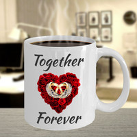Wedding Anniversary Engagement Birthday Gifts For Bride Groom Wife Husband Mom Dad Mother Father Women Her Color Changing  White Coffee Mug