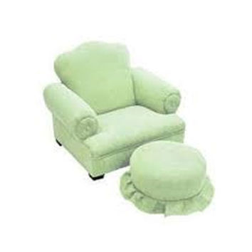 Komfy Kings, Inc 24016 Newco Kids Little Queen Lime Micro Kids Chair and Ottoman