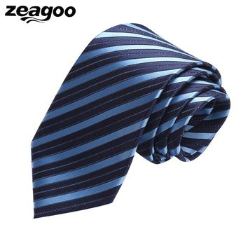 Zeagoo New Multi-Color All Seasons Striped/ Plaid/ Solid Necktie For Men Formal Wedding Cocktail Party Jacquard Slim Ties