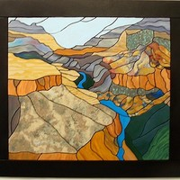 Wooden Art Grand Canyon, Abstract Wood by GalleryatKingston on Zibbet