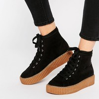 Truffle Collection Flatform Creeper High Top Trainers
