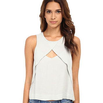 Free People Solid Look Through Top Pale Green - 6pm.com