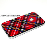 Iphone 4 cover Plaid Pattern by williamandcindy on Etsy