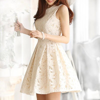 Jsminishop white lace dress