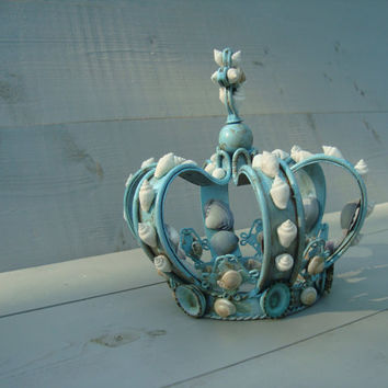 Turquoise Seashell Crown by MyHoneypickles on Etsy