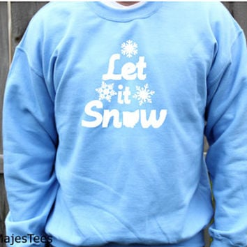 Ohio Let it Snow Snowflake Sweatshirt, State, Home