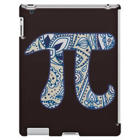 Pi Symbol, Paisley Flourish Pattern iPad 3/4 Case