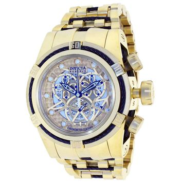 Invicta 12903 Men's Reserve Bolt Gold Tone Skeleton Dial Gold Plated Steel Chronograph Dive Watch