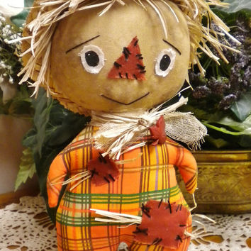 Primitive Scarecrow Doll, Mummy Mouse and Many More Fall Decor Items Available At Pearce's Craft Shop!
