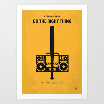 No179 My Do the right thing minimal movie poster Art Print by Chungkong
