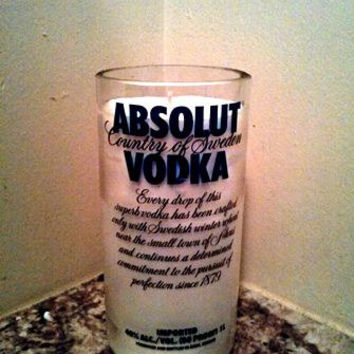 Absolut Vodka Bottle 100% Natural Soy Candle