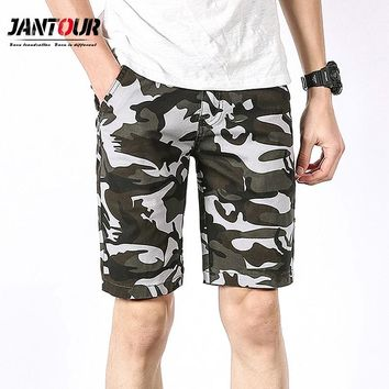 2018 New Summer Camouflage Cargo Shorts Men Loose Men's Military Trousers Size 28-38 Casual Man thin green Short Pants male