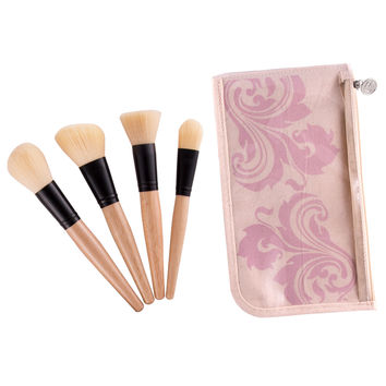 4 Face Brush Set