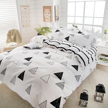 2019 New spring Bedding set Orange Cactus duvet cover set BIg Ben flat sheet Pisa tower jogo de cama bed linen heart duvet cover