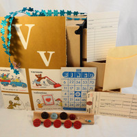 Scrapbook MINI kit with vintage new and handmade by ScrappyDoodads