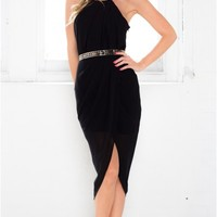 Twist And Wrap dress in black