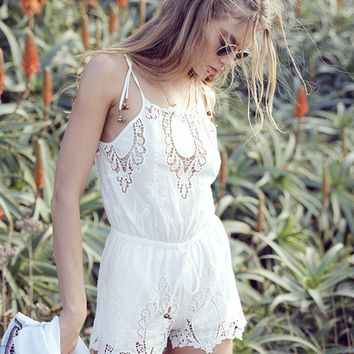 Gracie Playsuit Off White