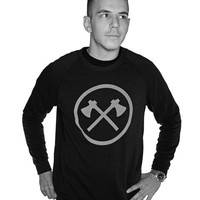 DEFEND CREW SWEATER - UNISEX SWEATER / ECO TRUE BLACK /