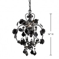 Wake Up Frankie - Petite Black Rose Beaded Chandelier : Teen Bedding, Pink Bedding, Dorm Bedding, Teen Comforters