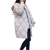 Women Warm Jacket New Winter Long Down Coat Cotton Parkas Female Slim Ladies Jackets Coats Plus Size