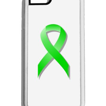 Lyme Disease Awareness Ribbon - Lime Green White Dauphin iPhone 6 Cover by TooLoud
