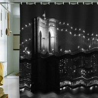 DENY Designs Leonidas Oxby Brooklyn Bridge 125 Shower Curtain