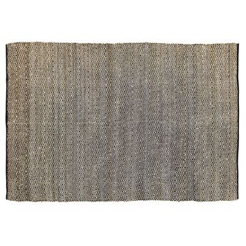 Zuma Black - Jute & Cotton - Handwoven -  96 x 132 - Rug