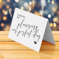 Funny wedding thank you card printable, Wedding planner thank you card, DIY handmade homemade thank you card, Digital instant download pdf