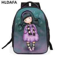 2017 New Brand 3D Printing Nylon Backpack For Girls Cartoon students School Shoulder Bags Woman Cute backpack child gift Mochila