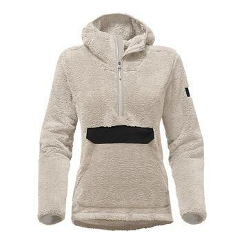 Women's Campshire Sherpa Fleece Pullover Hoodie in Vintage White by The North Face