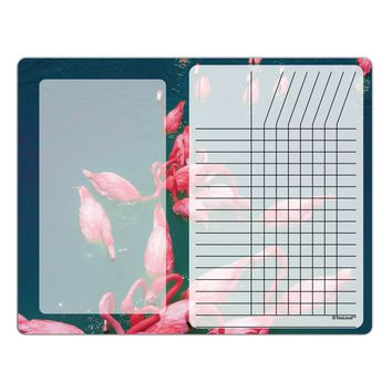 Bright Pink Painted Flamingos Chore List Grid Dry Erase Board All Over Print