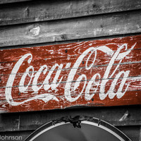 Old Coke 8 x 10 Coca Cola  Art Photography by HandLPhotographyTN