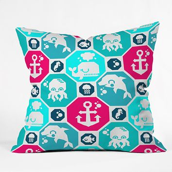 Chobopop Marine Pattern Throw Pillow