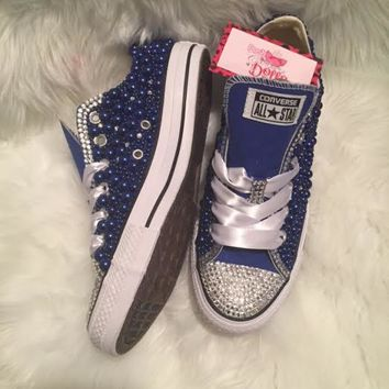 Couture Pearl and Crystals Wedding/Prom Custom Converse (Color)
