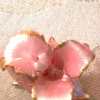 Vintage 1982 Cerrito Pink Orchid Pin