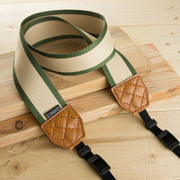 Camera Strap - Sanseria for DSLR and Mirrorless Camera in Snake Plant Pattern (Green)