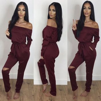 Camden Cut-Out Knee Jumpsuit
