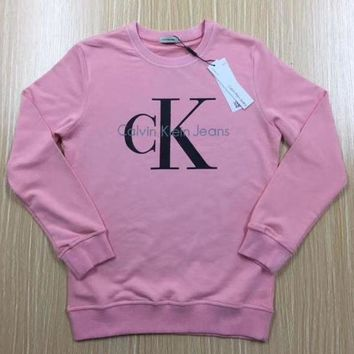 Calvin Klein Printed Womens Casual Long Sleeve Pullovers Sweaters