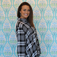 Night Out Plaid Top