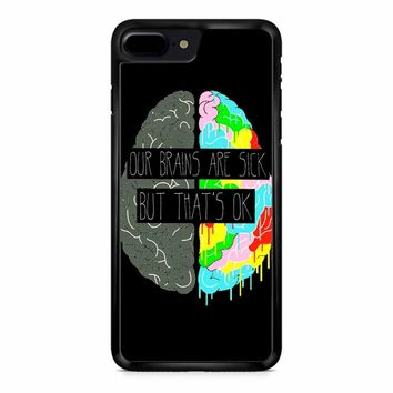 Fake You Out Twenty One Pilots Brains iPhone 8 Plus Case