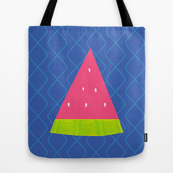 Watermelon Slice Tote Bag by Ariel Lark | Society6