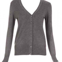 Dark Gray Long Sleeve Cardigan