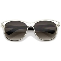 Retro Modern Laser Cut Horned Rim Sunglasses A449
