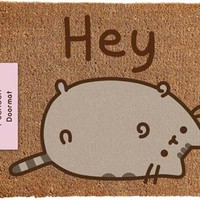 Pusheen | Hey DOOR MAT