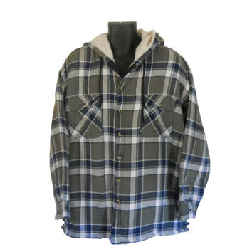 Green Flannel Shirt 4X Hooded Flannel Jacket Men Flannel Shirt 90s Grunge Flannel Plaid Flannel Shirt 90s Grunge Shirt Hoodie Men Clothing