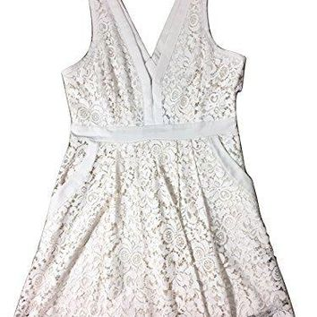 Free People Womens Lovely In Love Lace Cut-Out Cocktail Dress Beige S