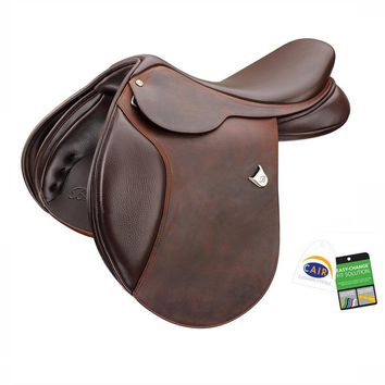 Bates (CAIR) Caprilli Close Contact Saddle with Extended Flap and Heritage Leather